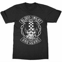 Camiseta sudor y engranajes sangre montar o morir Vintage motocicleta Club carrera bicicleta Wing