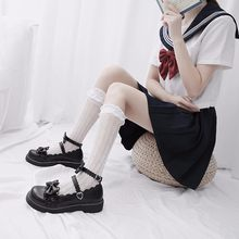 Gothic Lolita Shoes Women Black Lolita Shoe Bow Princess Shoes Female Cosplay Shoes Costumes Anime Shoe Student College Footwear(China)