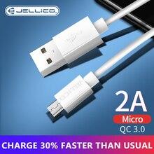 Jellico Cable Micro USB 2A para móvil, Cable de datos de carga rápida para Samsung, Xiaomi, Android