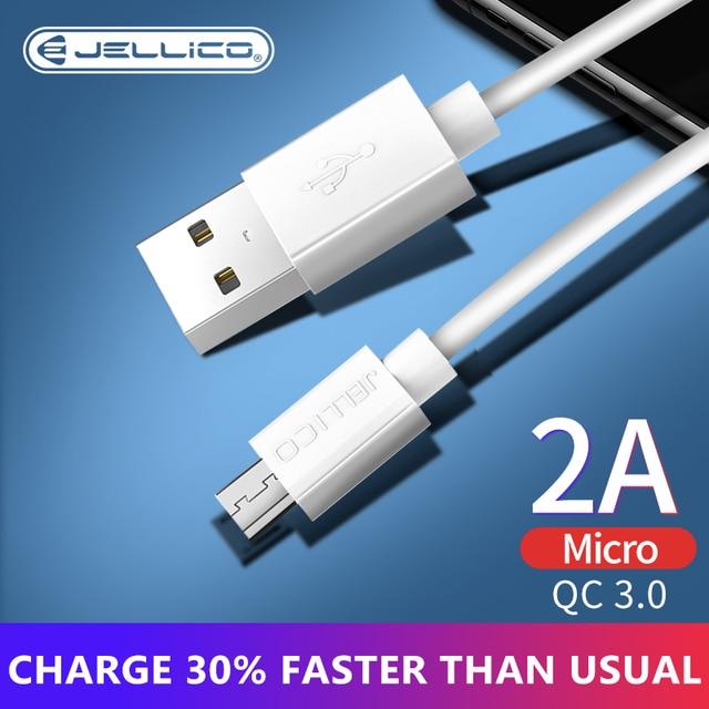 Jellico 마이크로 USB 케이블 2A 빠른 충전 USB 전화 데이터 케이블 삼성 Xiaomi 안 드 로이드 USB 충전 코드 Microusb 충전기 케이블