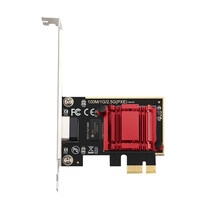 Jogo pcie cartão 2500 mbps gigabit placa de rede 10/100/1000 mbps rtl8125 rj45 com fio placa de rede pci-e 2.5g adaptador de rede lan cartão