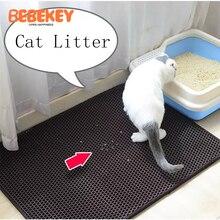 Mat Litter-Mat Cat-Supplies Layer Waterproof Bottom Non-Slip Colorful