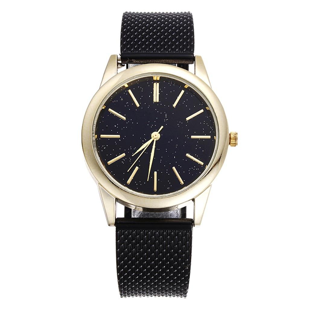 2020 New Men's Quartz Watch Luxury Starry Sky Scale Dial Wrist Watch Top Rose Gold Men's Analog Clock Watch Relogio Feminino