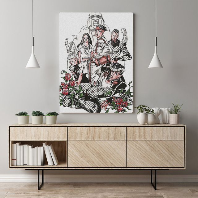 Home Decoration Jojo S Bizarre Canvas Painting Pictures Japan Anime Role Wall Art Hd Prints Modular Frame Poster For Living Room 2