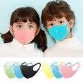 3 шт., маска для лица для детей, для мальчиков и девочек, однотонная маска, детские моющиеся колпачки для рта, Пылезащитная губка для лица, мас...