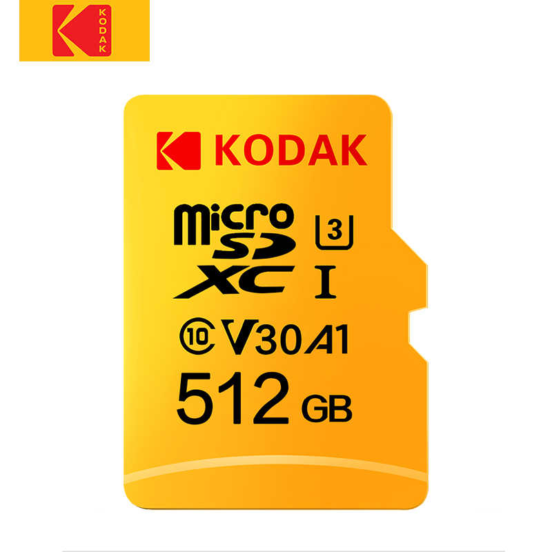 Carte mémoire Flash originale Kodak 512GB Micro SD classe 10 U3 4K haute vitesse cartao de mémoire 512gb mecard C10