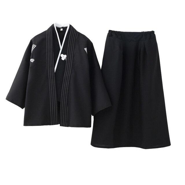 Boys Cosplay Costume Japanese Kids Kimono Yukata Traditional Samurai Robe Halloween Costumes Children Performance Clothes 3
