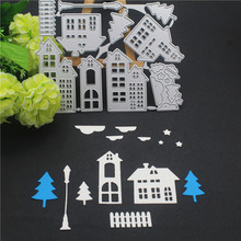 Christmas House Metal Cutting Dies Scrapbooking Craft Die Cut Stamps Embossing New 2019 Card Making Decor
