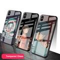 Японское аниме chihiro Spirited Away чехол из закаленного стекла для телефона для Redmi 7A 8 9 NOTE 9 8 7 6 Pro, роскошный чехол с принтом