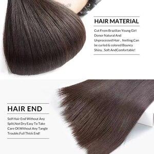 Image 3 - Satai Straight Human Hair Bundles 3 Bundles 8 30 inch M Remy Hair Bundles Brazilian Hair Weave Bundles 100% Human Hair