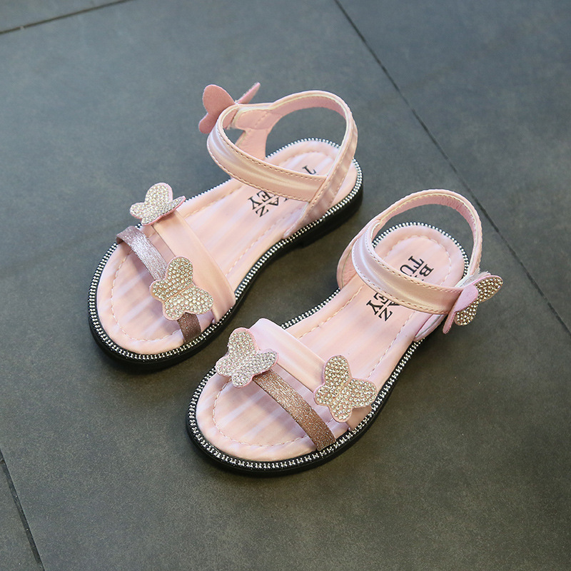 2020 New Baby Girl Sandals Summer Baby Girl Shoes Summer Kids Children Sandals Fashion Bowknot Girls Flat Pricness Shoes