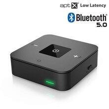 Bluetooth 5.0 Zender Ontvanger Draadloze 3.5 Mm Rca Optische Audio Adapter Voor Lage Latency Dual Link Voor Tv Stereo installaties