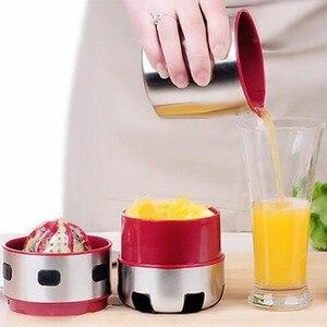 Image 4 - 강력한 스테인레스 스틸 오렌지 Juicer 휴대용 수동 뚜껑 회전 감귤류 Juicer 레몬 오렌지 귤 주스 압착기