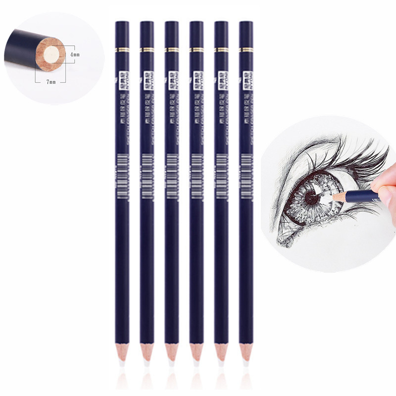 1PC Highlight Soft Eraser Pencil Pen Rubber Pen Professional Painting Pencil Rubber For Kids Drawing Stationery School Supplies