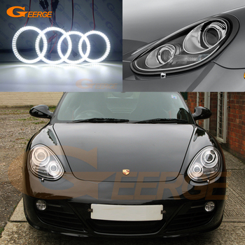 цена на Excellent Ultra bright smd led Angel Eyes DRL halo ring For Porsche 987 Boxster Cayman facelift 2009 2010 2011 2012 xenon HD