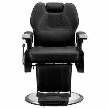 High Quality Classic Hydraulic Recline Hair Salon Iron Leather Sponge Barber Chair Black Adjustable back for barbershop - Category 🛒 All Category