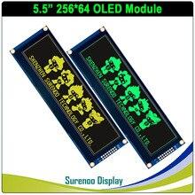 """شاشة عرض OLED حقيقية ، 5.5 """"256*64 25664 شاشة الرسم وحدة عرض LCD LCM شاشة البناء في SSD1322 ، 6080 8080 موازية Seral SPI"""