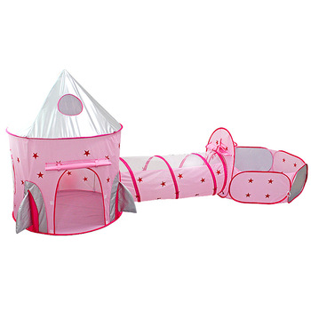 Childrens 3 In 1 Tent Spaceship Space Yurt Game House Rocket Ship Play  Indoor Crawling Tunnel Kids
