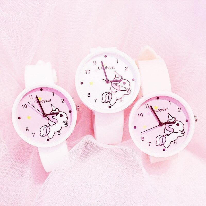 Маленькие свежие часы настоящие водонепроницаемые девушка симпатичная девушка студентка конфеты цвет желе вишня цвет пудра +дети часы