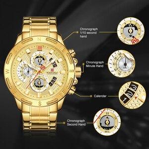 Image 2 - NAVIFORCE Men Watches Sport Waterproof Stainless Steel Fashion Luxury Gold Watch Date Clock Quartz Wristwatch Relogio Masculino