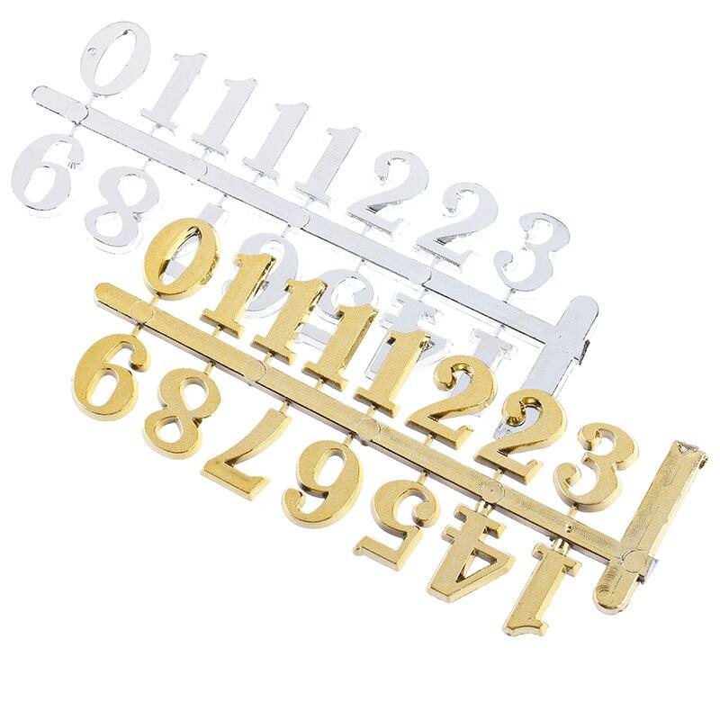 2Colors DIY Clock Digital Parts Numerals Restore Ancient Ways Digital Accessories Quartz Clock Movement For Clock Repair