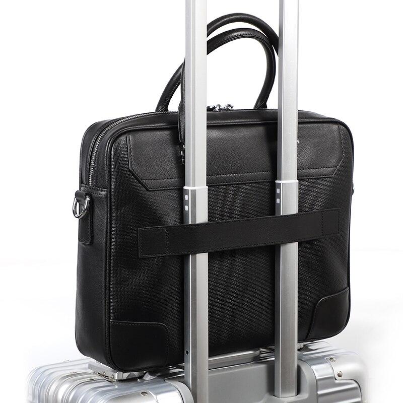 Guarantee Genuine Leather Briefcase Male Brand Designer Laptop Shoulder Bag Natural Skin Men Briefcases Bags OL Office Work Bag