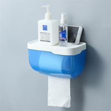Toilet Paper Holder Rack For Paper Towels Bathroom Accessories Wall-mounted Storage Tissue Box Bathroom Wc Paper Holder toilet paper holder wall mounted wc paper tissue box dispenser multi function plastic bathroom toilet paper holder storage box