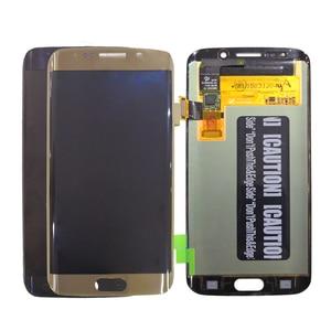Image 2 - AMOLED Display Per SAMSUNG Galaxy S6 bordo Display LCD G925 G925I G925F Parti Del Telefono di Tocco Digitale Dello Schermo Originale Display OLED