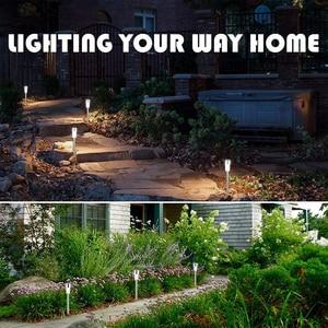 Image 3 - Aimkeeg 10pcs נירוסטה עמיד למים LED שמש אורות דשא חיצוני מנורת שמש גן דקורטיבי שמש בחצר אור