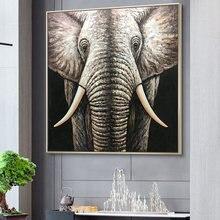 100% ручная роспись абстрактный слон картина маслом на холсте