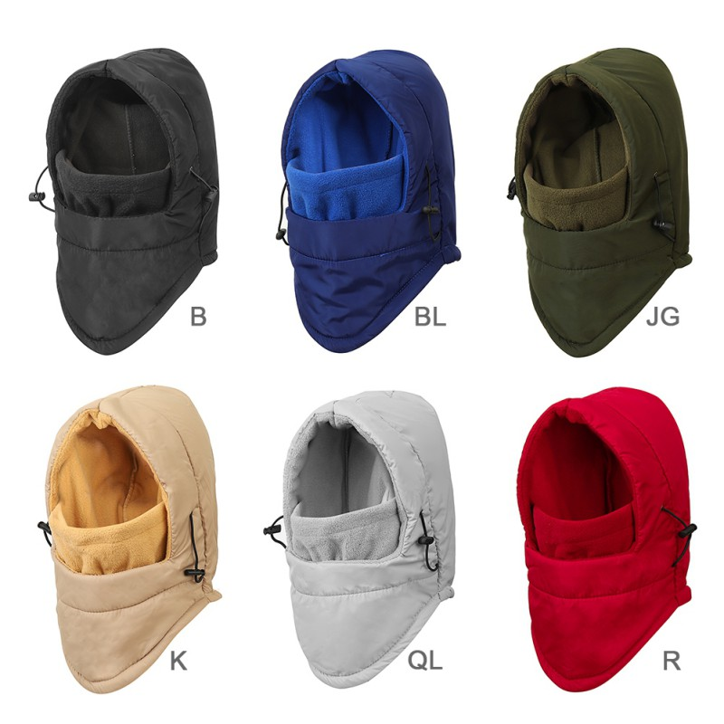 Bomber Hat Women Men Thick Fluffy Thermal Windproof Face Mask Ear Protection Pullover Cap Outdoor Winter Warmth Lei Feng Cap