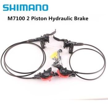 Shimano disco de freio hidráulico, freio de 4 pistões deore slx m7120 m7100 mountain bike mtb com d03s n03a n04c» almofadas j04c j03a