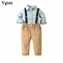 Vgiee Boys Fall Outfits for Wedding Birthday Party Children Solid Winter Kids Set Full Clothes Baby Boy CC750