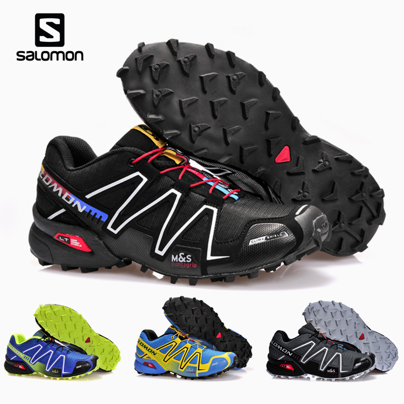 Salomon Speed Cross 3 CS III Outdoor Men Sport Sneaker Comfortable Male Jogging Sneaker Solomon Fencing Zapatillas Hombre Shoes