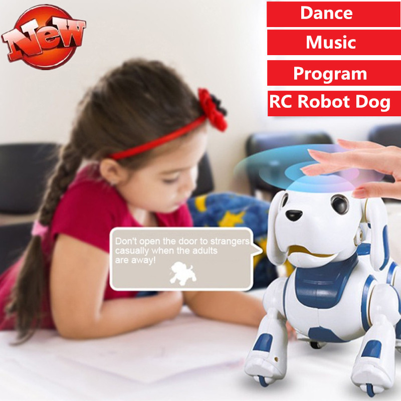 ingles brinquedo de aprendizagem alta simulaiton controle remoto rc robo cao musica danca programa falar ingles