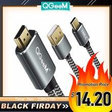 QGeeM USB di Tipo c 3.1 Cavo HDMI Thunderbolt Adattatore Per MacBook Samsung S8 Huawei Mate 10 di Tipo C a HDMI convertitore