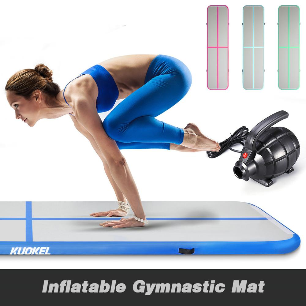 Air track Gymnastics Mat Pink Color Inflatable Gym Mat Airtrack Olympics Gym Mat Electric Air Pump Christmas Floor Mats