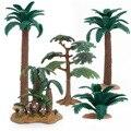 Детские игрушки Модель деревья сцена дом макет поезда Макет железная дорога пластиковые садовые пейзажи миниатюрные развивающие игрушки м...