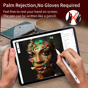 Image 4 - For Apple iPad Pencil Palm Rejection Active Stylus Pen for Apple Pencil 2 iPad 2018 and 2019 6th 7th Gen/ Pro 3rd Gen/ Mini 5th