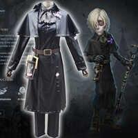 Disfraz de Game Identity V para Cosplay, disfraz Original de piel negra, traje de Cosplay del portero de la tumba, de los personajes del juego, de los personajes del juego