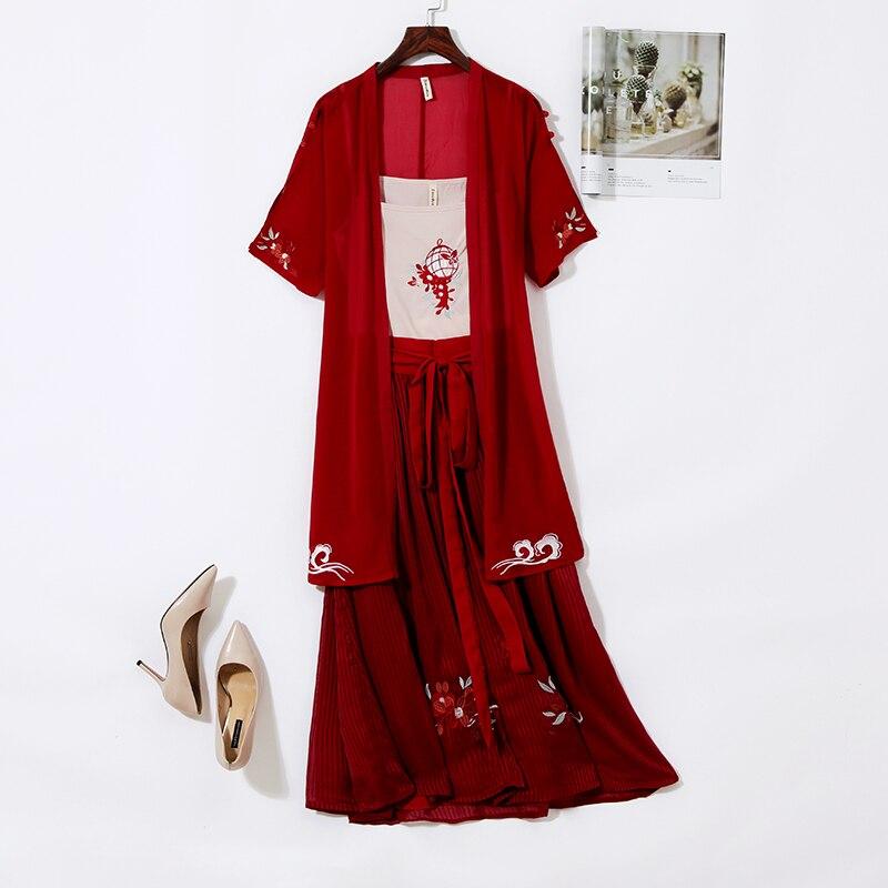 Купить женский комплект в китайском стиле простой комплект из трех