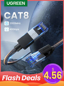 UGREEN Ethernet-Cable Networking Lan-Cord Laptops Nylon CAT8 40gbps 2000mhz for 4-Router