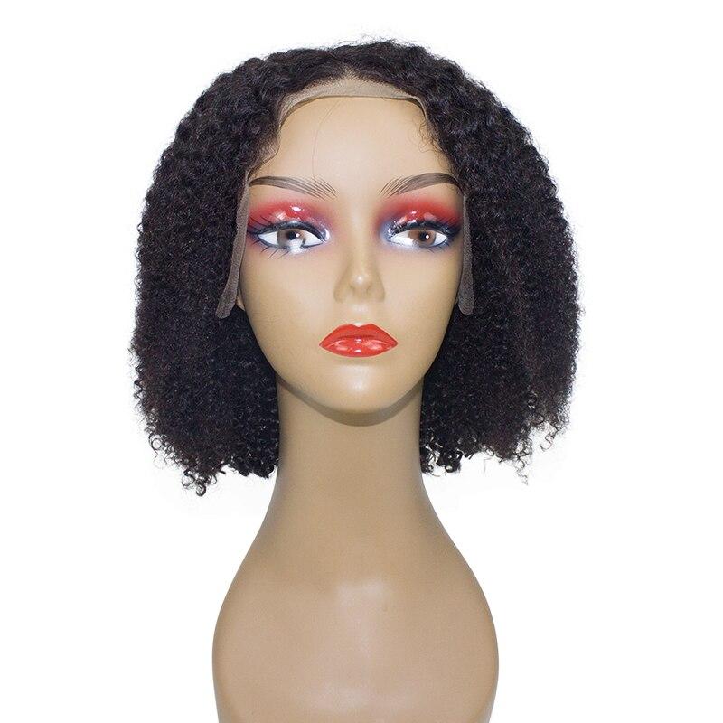 Onecut Cabelo Curto Bob dianteira do laço perucas de cabelo humano para as mulheres negras afro brasileira kinky curly pré depenado 13x6 250 Densidade