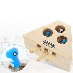 Image 5 - Aapet drewniana zabawka dla zwierząt drewniana mysz dla kota interaktywna zabawka dla kota whac a mole Cat Kitty zabawna zabawka dla myszy ściganie gier