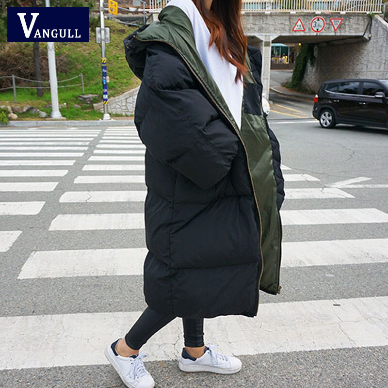 Vangull Fashion Women   Parkas   2019 New Arrival Solid Slim Long Oversize for Women's Cotton Slim   Parka   with Hooded Winter Jacket