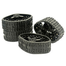 4Pcs Durable Professional Track Wheel RC Car Snow Tire Easy Use Rubber Military Truck Parts Replacement DIY Pars For WPL 1/16 f17675 7 jmt 4pcs 38mm 1 20 rubber tire model wheel diy robot accessories toy parts for rc car