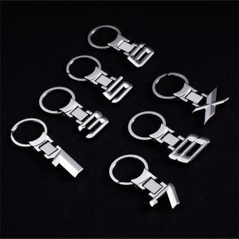 цена на 1pcs Car metal keychain Zinc Alloy Key Rings Keychain Car Emblem Key Chain Logo For BMW Logo E30 E32 E34 E36 E38 E39 E46 E60 E65