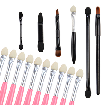 Disposable Eyeshadow Brush Dual Sided Sponge Nylon Sets Make up Eye Shadow Brushes For Cosmetic Applicator Makeup недорого