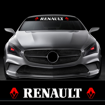 Car-Styling Auto Stickers Sunshade Front Windshield Banner Decal For Renault Duster Megane 2 Logan Latitude Clio Scenic Laguna - discount item  30% OFF Exterior Accessories