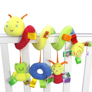 Image 1 - Newborn Baby Stroller Toys Lovely Snail Model Baby Bed Hanging Toys Educational Baby Rattle Toys WJ414